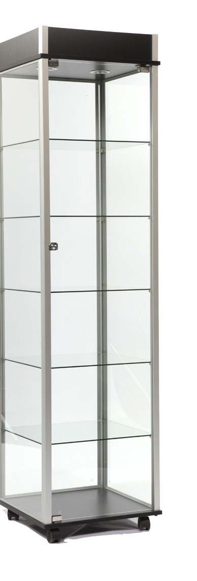 Glass Display Cabinet Showcases: Glass Display Museum Showcase-Trophy Cases For Sale