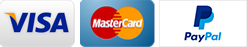 Pay by Visa, Mastercard and PayPal